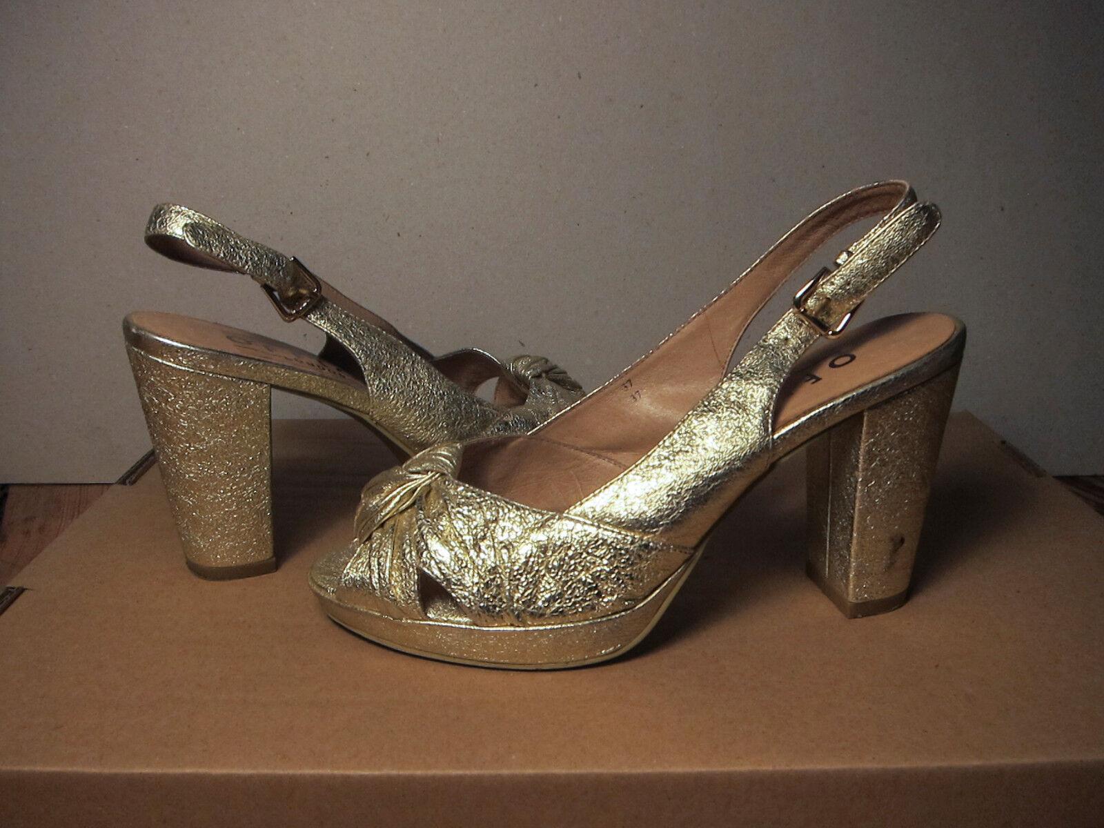 Damenschuhe, Gold, Office London, Gr. 37, kaum getragen, getragen, getragen, Leder 8e023e