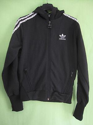 Veste Adidas à capuche Originals Trefoil Jacket Noire Femme style vintage 38 | eBay