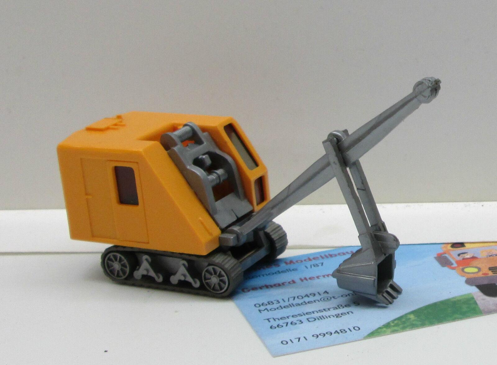 Wiking 660 2  Krupp Ardelt raupenbagger cromo giallo (679)