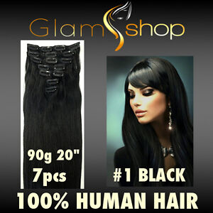 20-034-CLIP-IN-STRAIGHT-100-Human-Remy-Hair-extensions-90g-1-Black-clip-ins