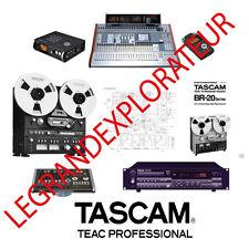 Ultimate Tascam Operation  Repair  Service manual & Schematics    200 PDF on DVD