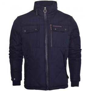 Ringspun-Mens-High-Quality-Heavyweight-Diamond-Quilted-Jacket-Coat-Foldaway-Hood