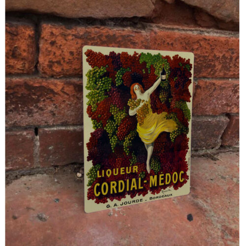 Liqueur Cordial VINTAGE ADVERTISING ENAMEL METAL TIN SIGN WALL PLAQUE Kitchen