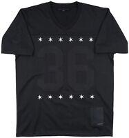 Black Scale BLVCK Football Jersey Men's Shirt Black S-2XL Fball Player Tee Top