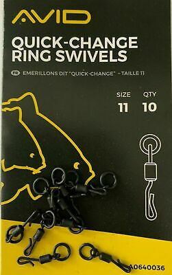 Avid Carp Outline Quick Change Ring Swivels Size 11 A0640036