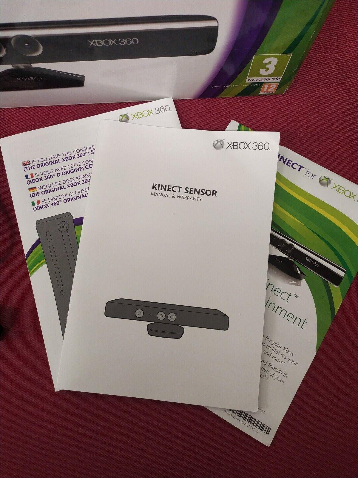 Microsoft Xbox 360 Kinect Sensor Bar Complete with box