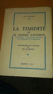 La-timidite-et-le-manque-d-039-autorite-R-G-Vaschalde-Edition-C-E-P