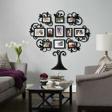Wonderful 12 Piece Family Tree Photo Picture Frame Collage Set Black Wall Art Home  Decor