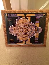 star trek cast and crew plaque  ds 9 deep space 9  6th