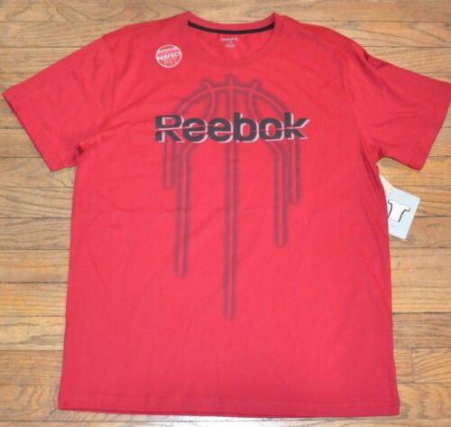 Reebok Superior Comfort Perfect Fit Basketball T-Shirt Training Tee BLING RED