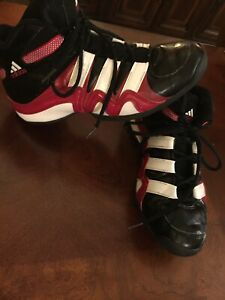 73b4304f4a0 Image is loading Adidas-Crazy-8-Red-Black-White-Basketball-Sneakers-