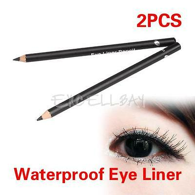 Black Eye Liner Smooth Waterproof Cosmetic Beauty Makeup 2 Pcs Eyeliner Pencil