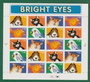 Bright Eyes Mint Sheet of 20 Stamps, Scott #3230-34