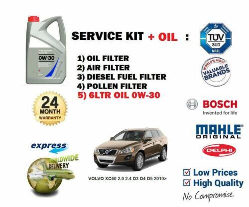 aceite /> Aceite Aire Combustible Polen 4 Kit de Filtro Para Volvo XC60 2.0D 2.4D D3 D4 D5 2010