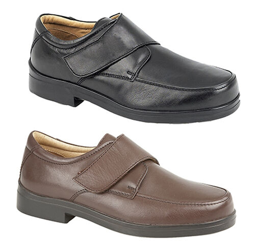 Mens New Casual Lightweight Extra Wide Fitting Casual New Comfortable Leather Shoes 6 - 12 b717dc