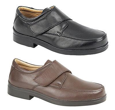 Zapatos de Cuero hombre Nuevo Ligero Extra Ancho Ajuste Casual Cómodo 6 - 12