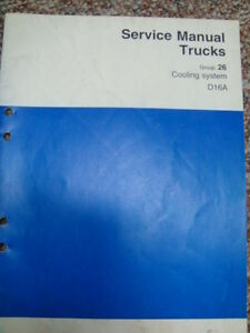 volvo truck engine service manual cooling system d16a ebay rh ebay com au D16A Honda Engine d16a service manual
