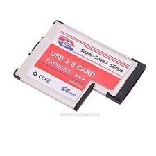 USB 3.0 ESPANSIONE PCMCIA Express Card 2-Porta Laptop Notebook Adattatore Di Chip NEC
