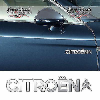 Autocollants Graphics X2 CITROEN Chrome Vinyle Porte Voiture Autocollants Latéraux 7 ans