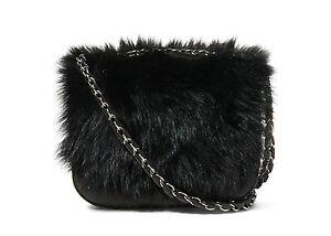 3234925feba Image is loading Polo-Ralph-Lauren-Womens-Black-Leather-Lamb-Shearling-
