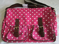 Elizabeth Rose Fleur satchel bag. Pink / white polka dot. New.