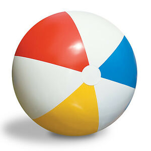 Swimline-Inflatable-36-Inch-Classic-Rainbow-Beach-Ball-For-Pool-Lake-90036