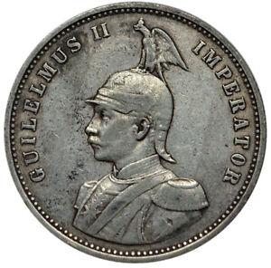 GERMAN-EAST-AFRICA-1-Rupie-1893-Silver-VF-Semi-key-Date