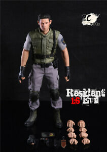 1 6 Zctoys Resident Evil Chris Redfield Action Figure Police Outfits Full Set Ebay