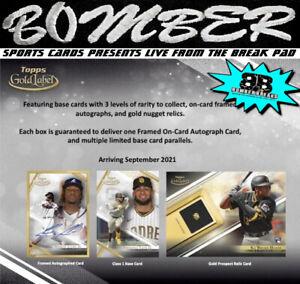 Miami Marlins 2021 Topps Gold Label Baseball Hobby 4-Box Break 8