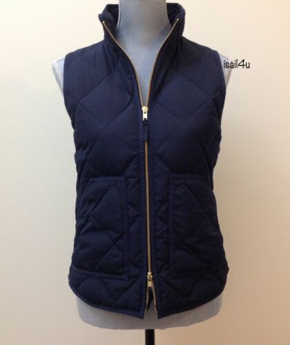 J.Crew Factory Excursion Quilted Puffer Down Vest NWT Navy Season 2016 XXS-XXL