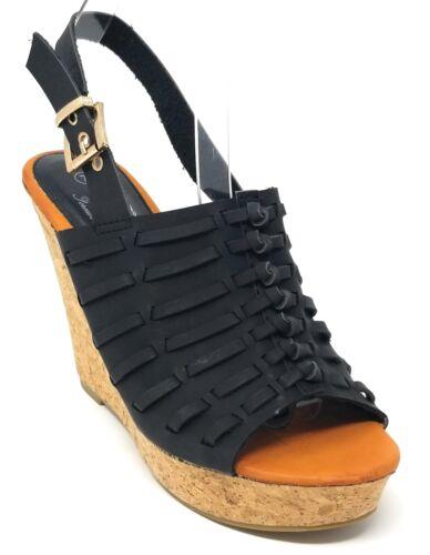 Women Tall Wedge Platform Open Toe Sandals w// Adjustable Slingback Strap