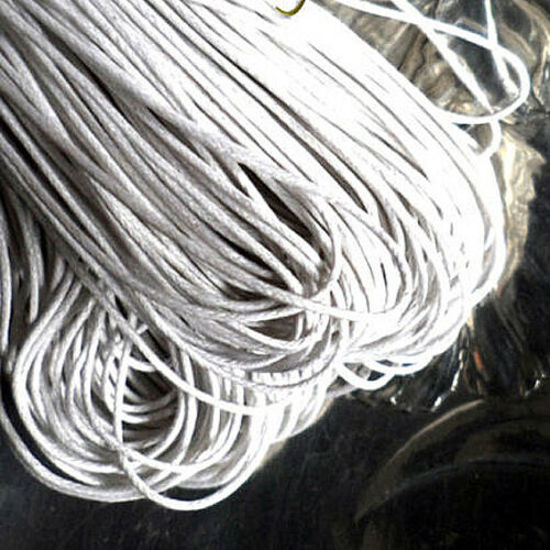5 m hilo Algodón Encerado BLANCO Grosor 1 mm