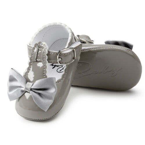 Toddler Girl Bowknot Soft Princess Crib Shoes Sneakers Leather Prewalker Nice