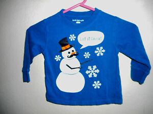 KIDS-KORNER-GIRLS-3T-LONG-SLEEVE-BLUE-SHIRT-034-LET-IT-SNOW-034