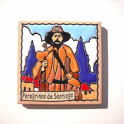 Camino de Santiago Pilgrim Tile Way Of St. James Peregrinos Fridge magnet