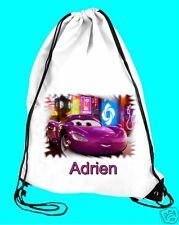 Sac de piscine sac de gym cars réf 45 personnalisable avec prénom