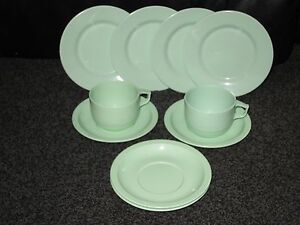 Image is loading ROSTI-DENMARK-VINTAGE-MELAMINE-CUPS-SAUCERS-PLATES-GREEN- : melamine cups and plates - pezcame.com