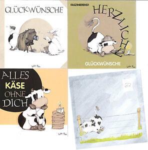 Gluckwunschkarte Mit Umschlag Kuh Kuhe Lustige Spruche Geburtstag