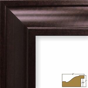 "Craig Frames Contemporary Upscale, 2"" Brazilian Walnut Brown Picture Frame"