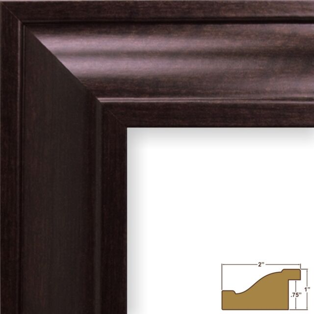 "Craig Frames Contemporary Upscale, 2"" Brazilian Walnut Brown Picture Frame"