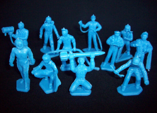 MARX Air Force ground crew toy soldiers 45mm blue 22 in all 11 poses
