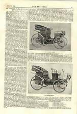 1894 French Road Vehicle Competition Daimler Victoria Pheaton Road Trials Maps