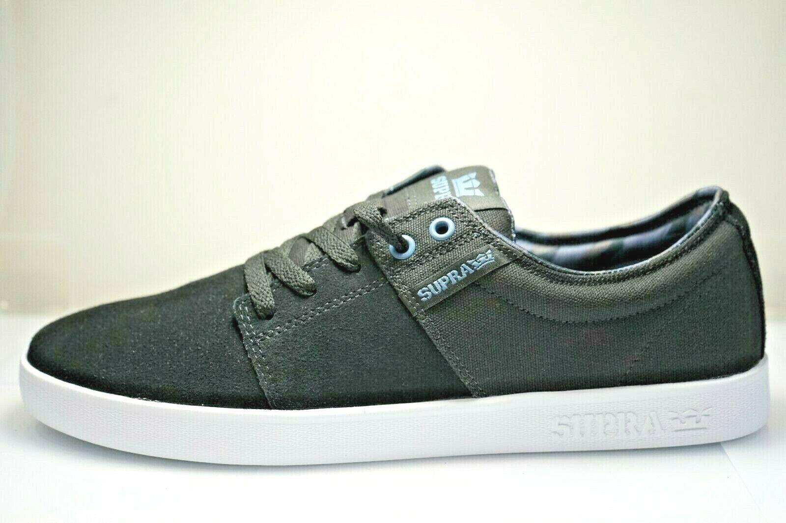 Supra Stacks II Mens Boys Skate Shoes Trainers Size UK 3 / EU 36 Suede (Y3J)