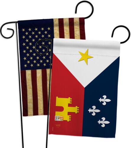 Acadiana Decorative USA Vintage GP118008-BOAA Applique Garden Flags Pack