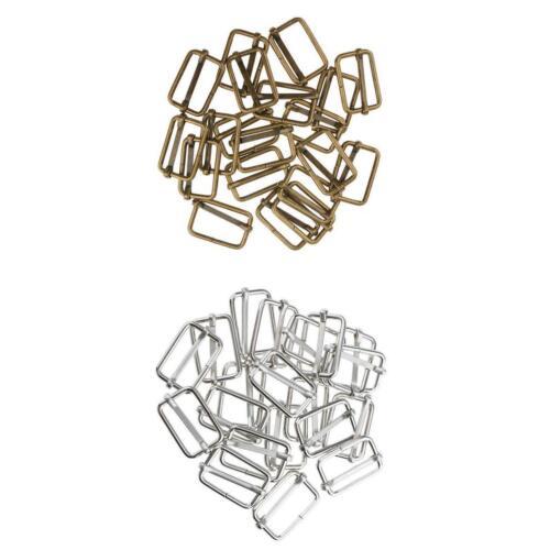 40 Pieces DIY Metal Slide Buckles Connector for Bag Strap Crafts Accessories
