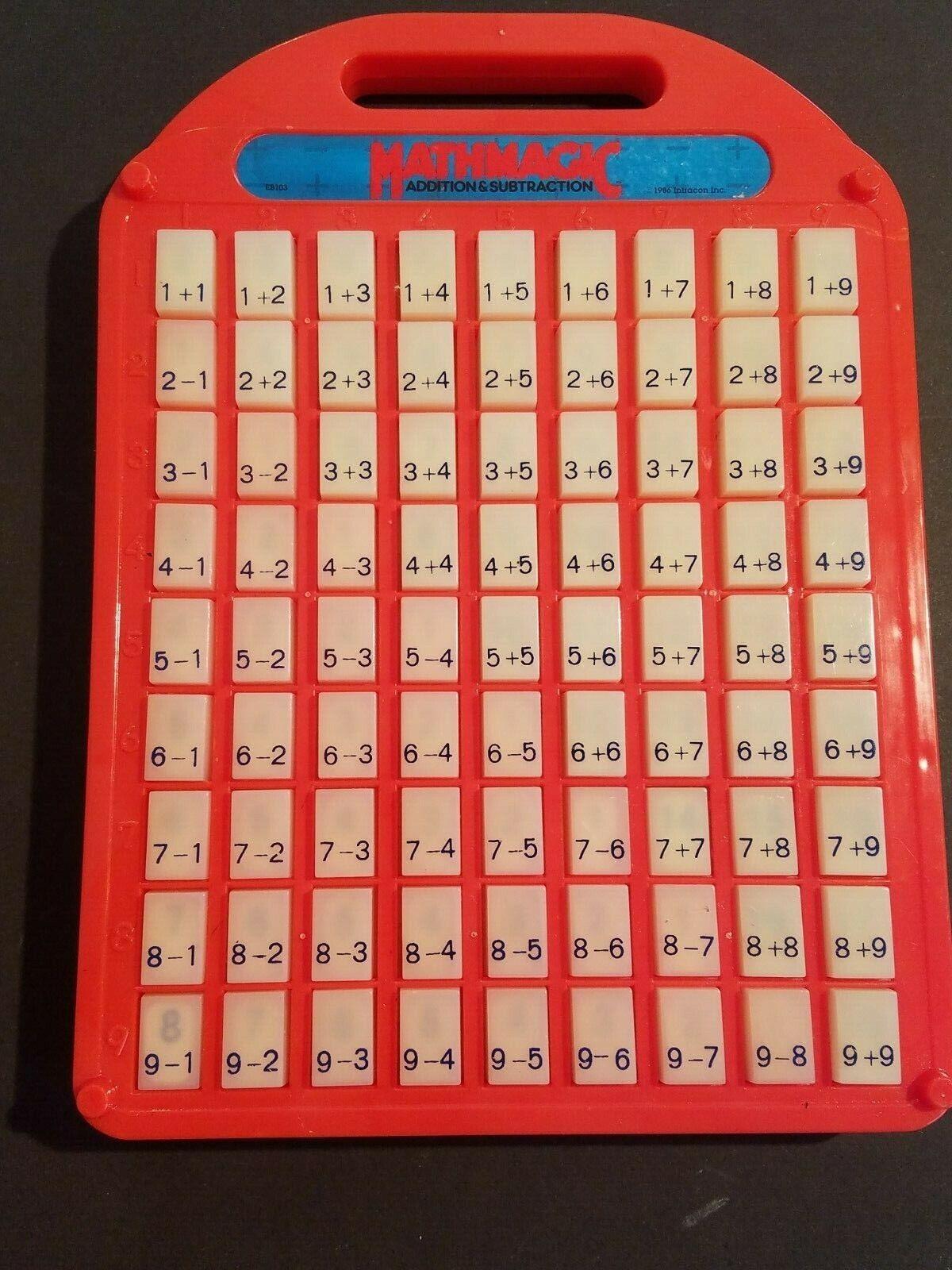 Vintage 1986 Intracon Mathmagic Kinder Zusatz Subtraktion Spielzeug Heim Schule  | Attraktives Aussehen