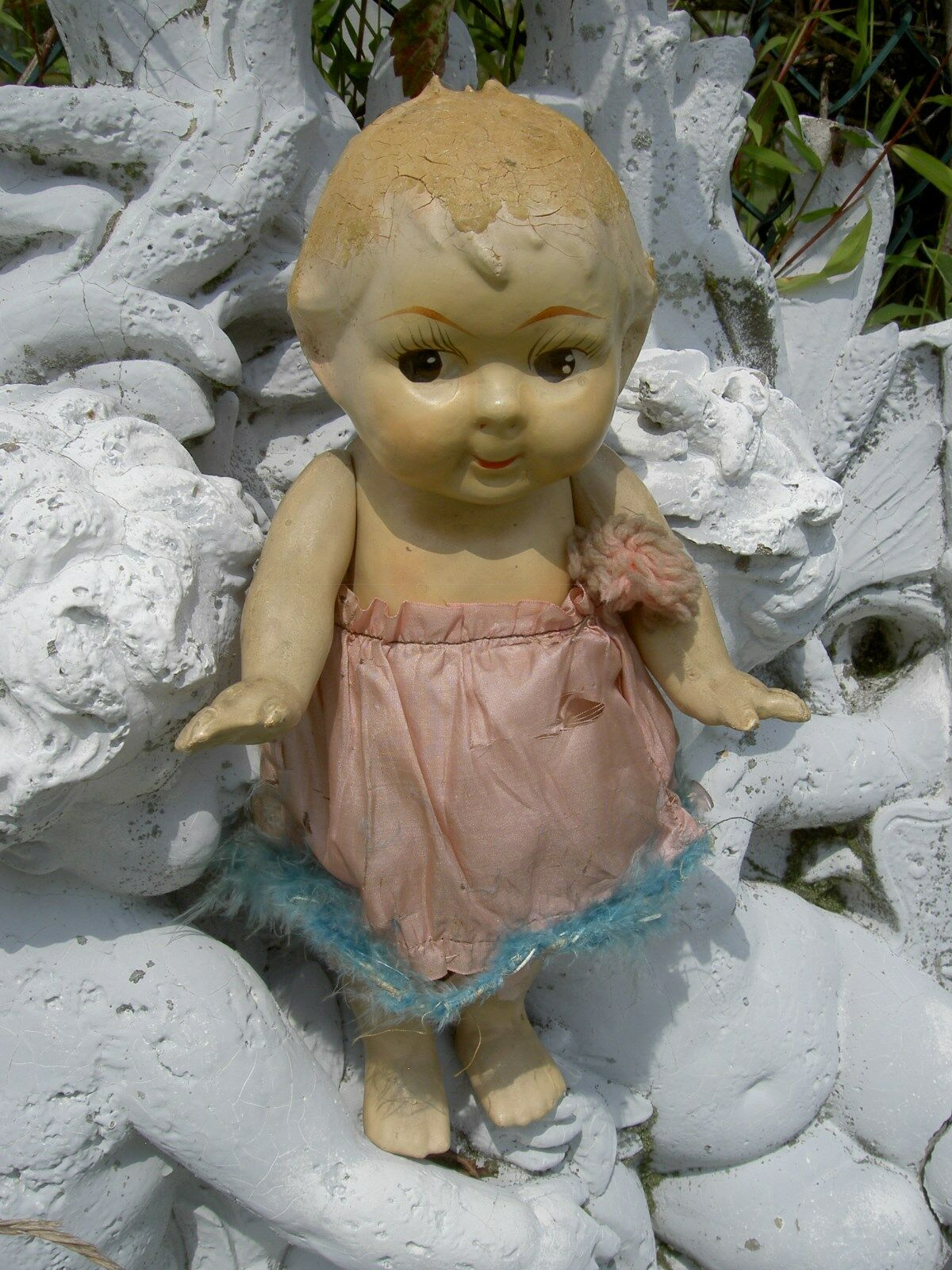 DARLING  1920s jointed composition CUPIE (Kewpie) autonival bambola, googly  eyes  economico