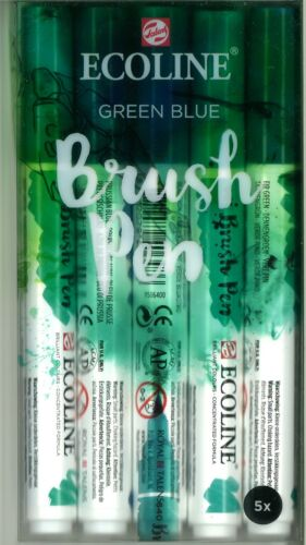 Talens Ecoline Brushpen 5er-Set green blue