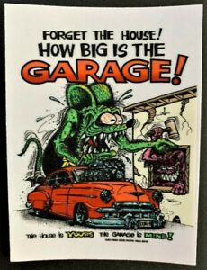 Forget-The-House-STICKER-Decal-Ed-Roth-Rat-Fink-Official-Original