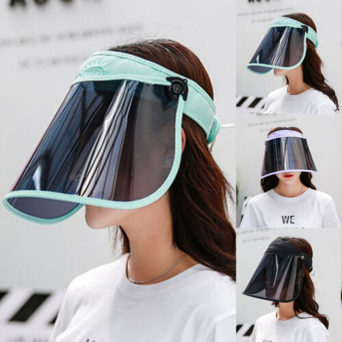 Gesichtsschutzschild Sonnenblend Visier Augenschutz UV-Schutz Schützen Abnehmbar